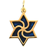 Enameled Star of David Pendant