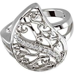 Sterling Silver Comfort Tear Ring Size 7