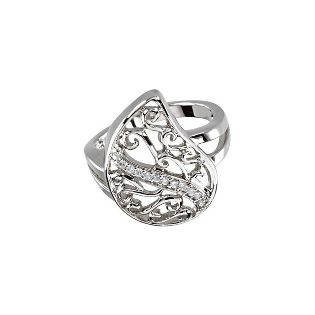 Sterling Silver Comfort Tear™ Ring Size 7