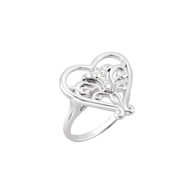 Sterling Silver Pure in Heart Ring for Ladies without Box