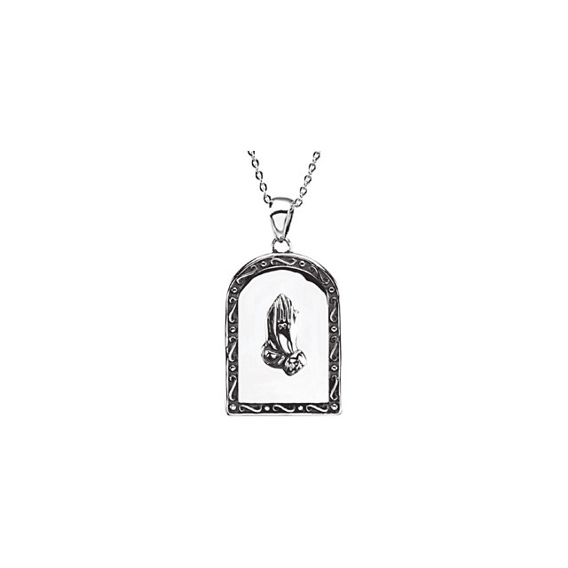 Sterling Silver .005 CT Pray Anyway Necklace
