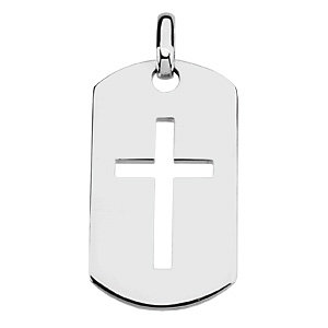 Pendant, Dog Tag Cross Pendant