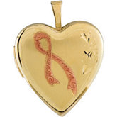 Breast Cancer Awareness Heart Locket
