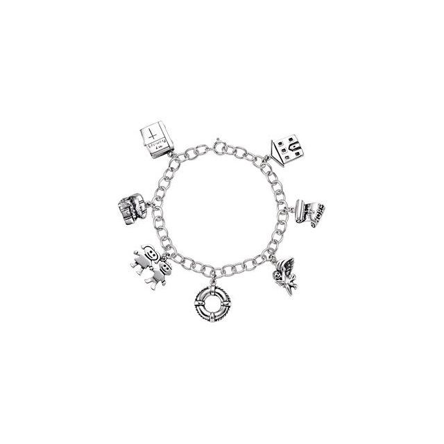 Sterling Silver Family Promises Bracelet