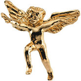 Flying Cherub Lapel Pin