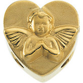 Heart Bracelet Slide with Cherub
