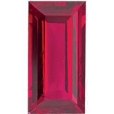 Straight Baguette Genuine Ruby