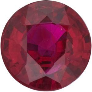 Ruby Round 0.58 carat Red Photo