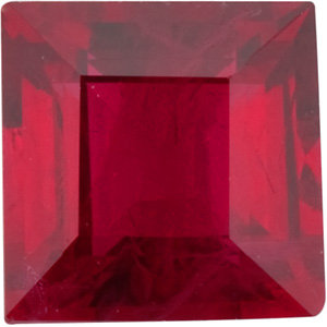 Ruby Square 0.35 carat Red Photo
