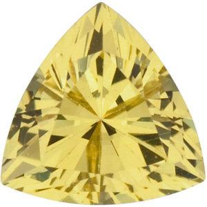 Sapphire Trillion 0.44 carat Yellow Green Photo