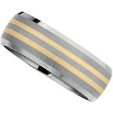 Titanium & Karat Gold Inlay Band
