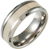 Tungsten Beveled Band with Gray Carbon Fiber