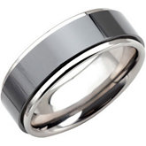 Tungsten 8.3 mm Ridged Band with Ceramic Couture® Inlay