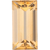 Straight Baguette Genuine Golden Precious Topaz