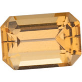 Emerald/Octagon Genuine Golden Precious Topaz