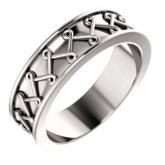 Twisted Zigzag Pattern Band