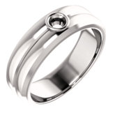 Men's Bezel-Set Ring