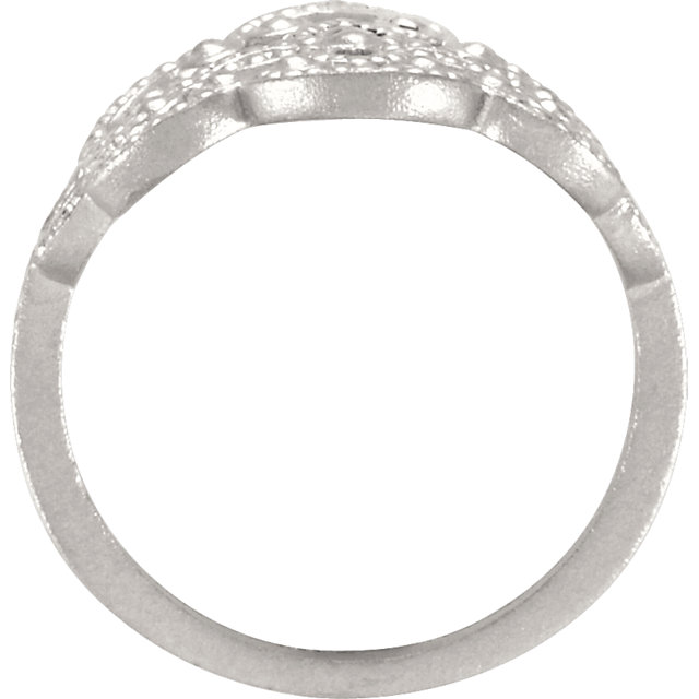 Sterling Silver Granulated Ring