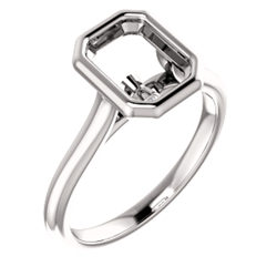 Solitaire Bezel-Set Engagement Ring