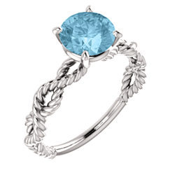 Twisted Rope Solitaire Engagement Ring