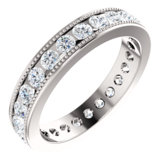 Channel Set Milgrain Edge Eternity Band