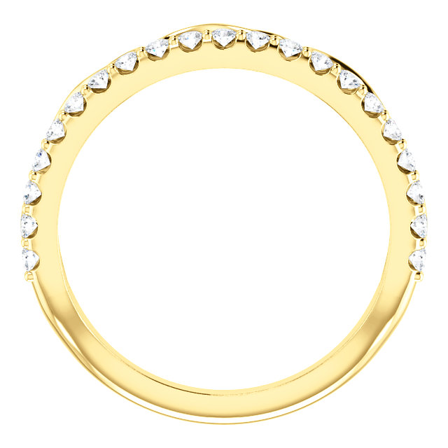 14K Yellow 1/3 CTW Diamond Infinity-Inspired Stackable Ring