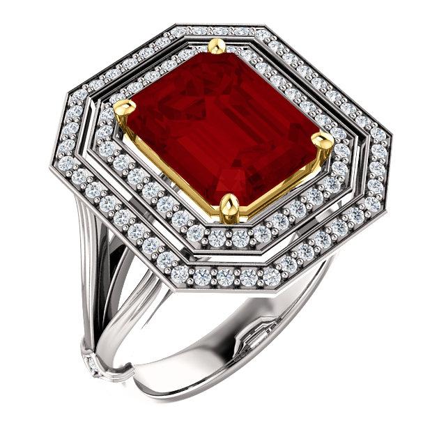 Ruby Diamond Statement Ring