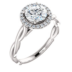 Halo Style Enement Ring