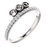 Accented Bezel Set Family Ring