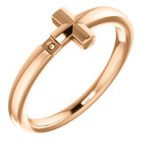 Youth Sideways Cross Ring