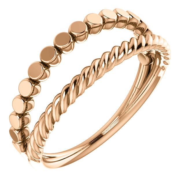 14K Rose Stackable Ring