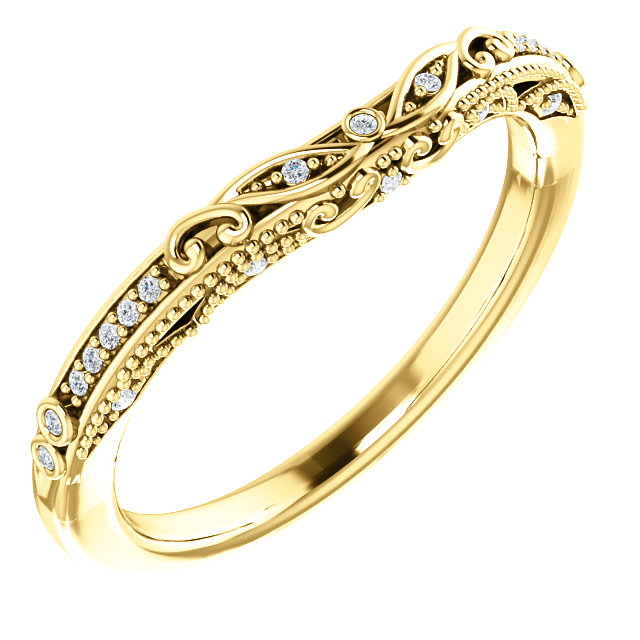14K Yellow .05 CTW Diamond Band