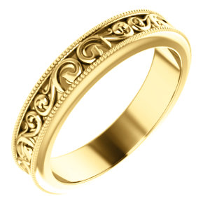 14K Yellow 2.5mm Band Size 6.5