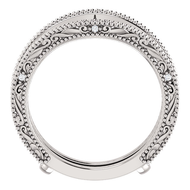 14K White .05 CTW Diamond Ring Guard