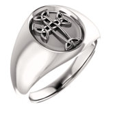 Celtic-Inspired Cross Ring