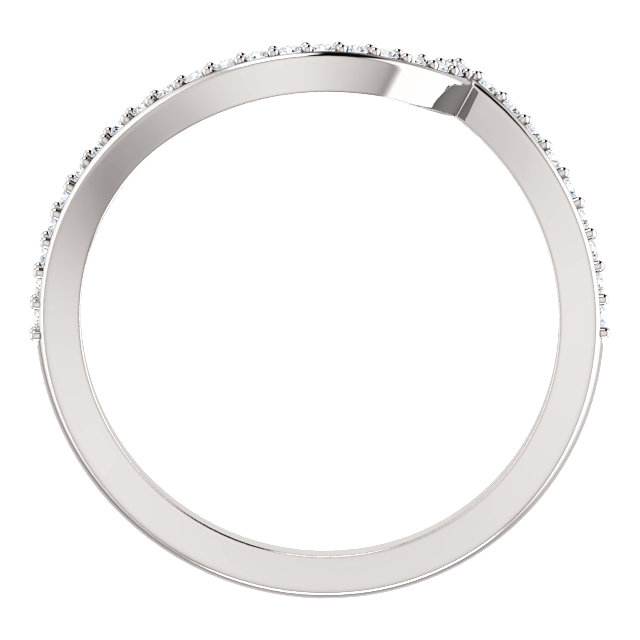 14K White 1/8 CTW Diamond Band for 4.4mm Round Ring