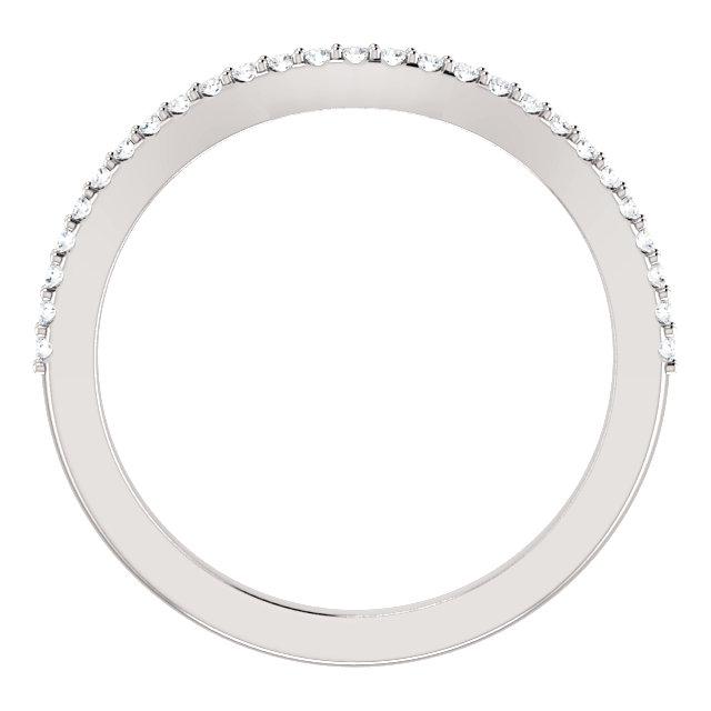 14K White 1/8 CTW Diamond Band