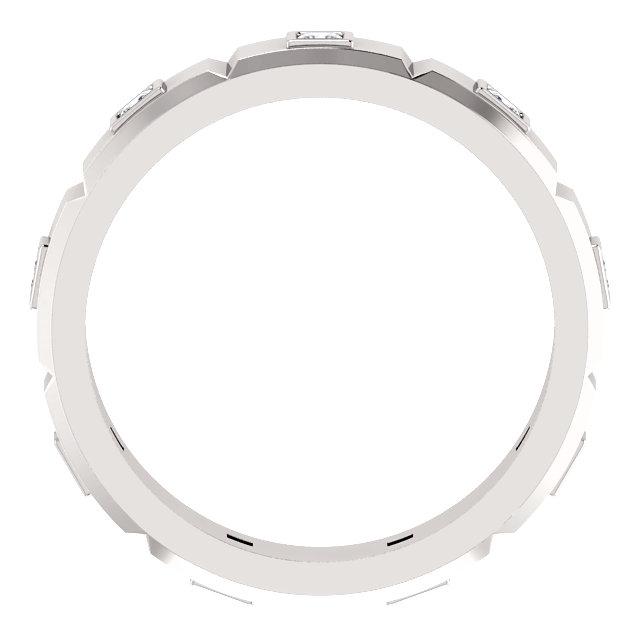 14K White 1/2 CTW Mens Diamond Ring Size 11