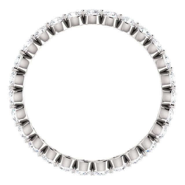 14K White 3/4 CTW Diamond Eternity Band Size 4