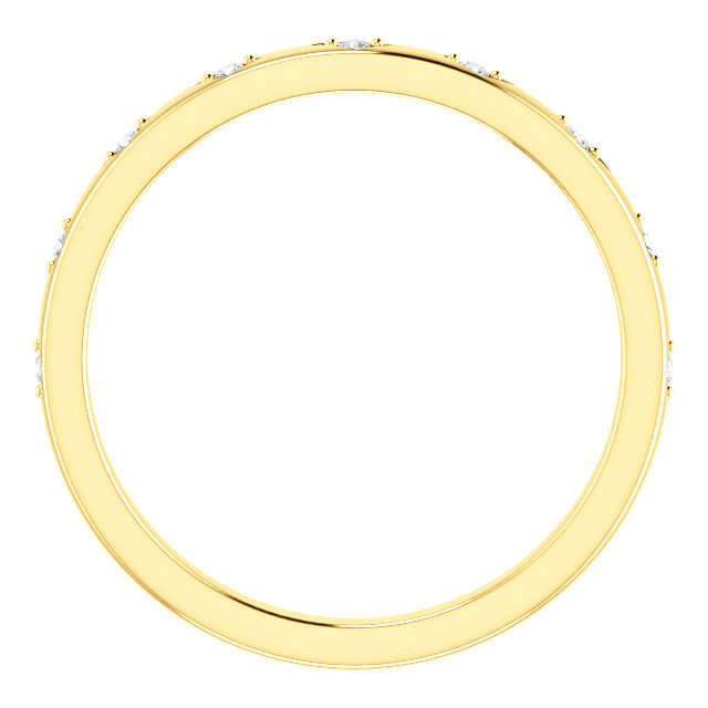 14K Yellow .05 CTW Diamond Band Mounting