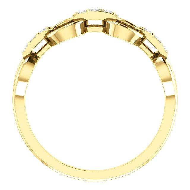 14K Yellow 1/10 CTW Diamond Link Ring