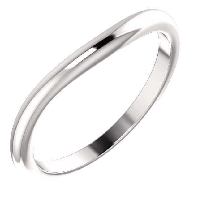 14K White Matching Band