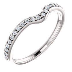 14k White 1 5 Ctw Diamond Band