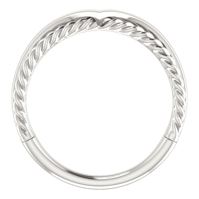 Sterling Silver Negative Space Rope Ring