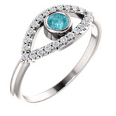 Accented Evil Eye Ring