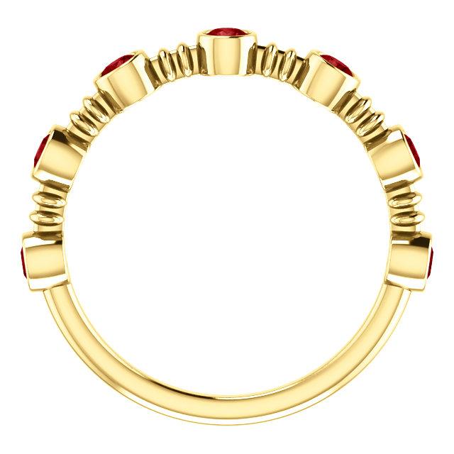 14K Yellow  Ruby Ring