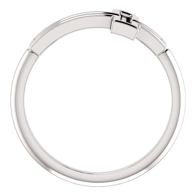 Platinum Cross Ring
