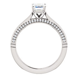 Accented Cathedral Engagement Ring