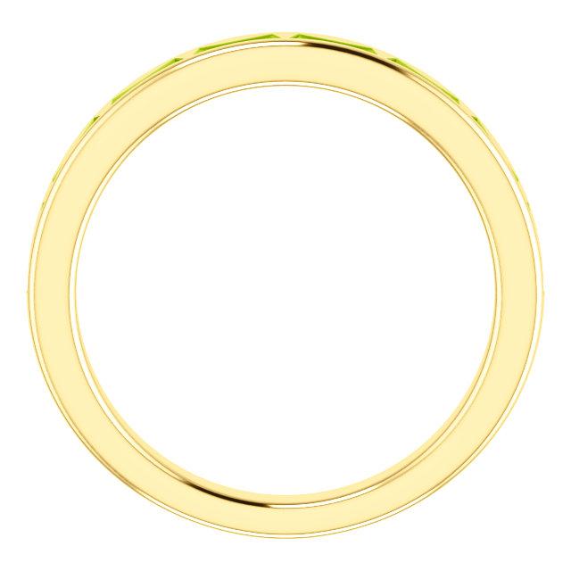 14K Yellow Peridot Ring