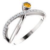 Criss-Cross Bezel-Set Ring